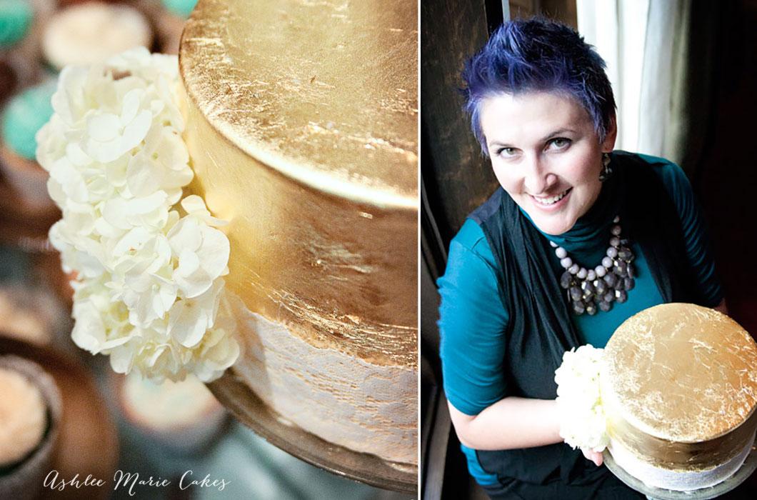 gold leaf wedding cake ashlee marie cakes