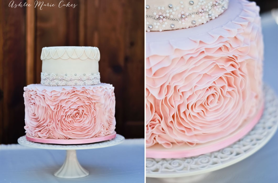 Buttercream Ruffle Wedding Cakes