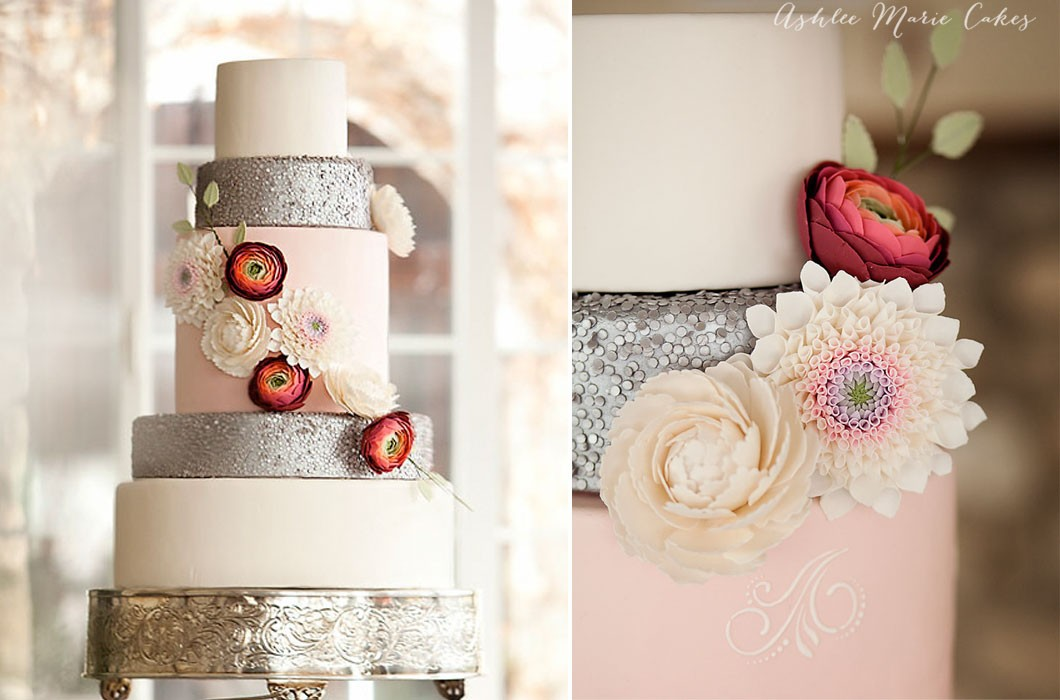 salt lake city cake decorator ashlee marie edible sequins gumpates flowers